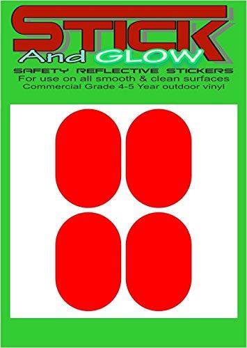 Reflektierende Helm Sticker/Aufkleber X4Frankreich/Französisch Gesetz (rot) | PILLENFORM
