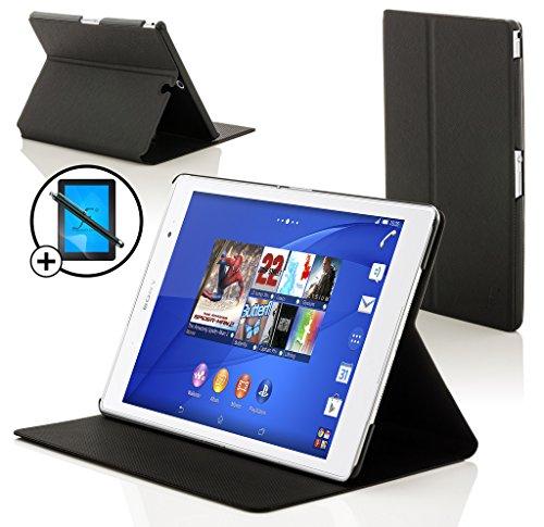 sony xperia z3 tablet Forefront Cases Sony Xperia Z3 Tablet Compact 8 inch SGP611 Smart Custodia Caso Case Cover Conchiglia - Ultra Sottile Protezione Completa Smart Auto Svegliati Sonno Funzione + STILO E PELLICOLA (NERO)