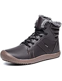 AFFINEST Botas De Nieve Hombre Invierno Botines Calentar Zapatos Deportes al aire libre Boots de algodón