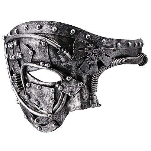 Coddsmz Maskerade Maske Steampunk Phantom der Oper Mechanische venezianische Party Maske (Antikes ()