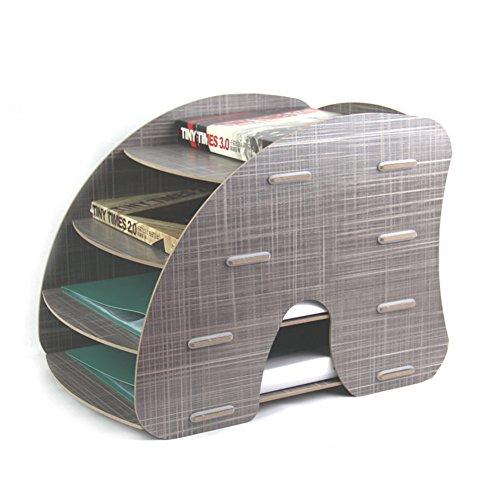 Gossipboy 4livelli staccabile in legno grano design scrivania A4file lettera