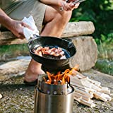 Solo Stove Campfire – Der größte Solo Stove: Leichter Holzofen mit Rocket-Kochsystem für Backpacking, Camping, Überlebenstraining, Vorbereitung auf Notfälle. Verbrennt Zweige – KEINE Batterien oder Kanister mit Flüssigbrennstoff notwendig. - 4