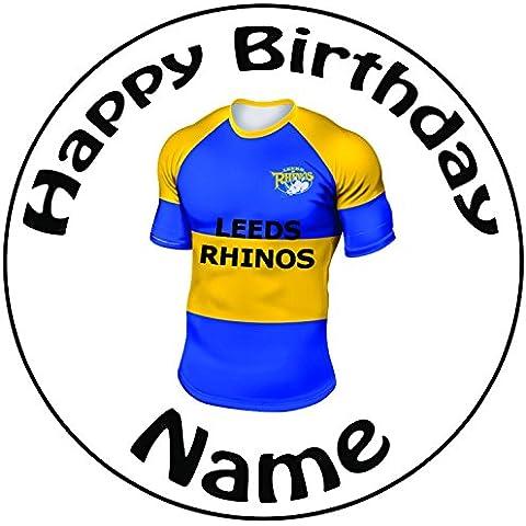 Personalised Leeds Rhinos maglietta da Rugby–Topper per
