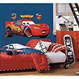 Thedecofactory RMK1518GM Stickers Cars - Lightning McQueen Peel & Stick Giant Wall Decal Repositionnables, Vinyle, Multicolore, 104 x 46 x 0.1 cm