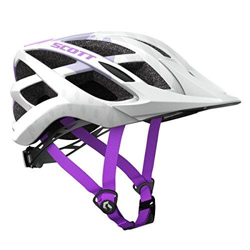 Scott Spunto Kinder Fahrrad Helm Gr. 50-56cm weiß/lila 2018