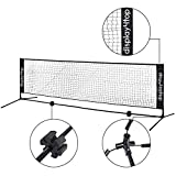 Display4top 5m Adjustable Foldable Portable Badminton Net Set - Net for Tennis, Pickleball, Kids Volleyball - Easy Setup Nylon Sports Net with Poles - For Indoor or Outdoor Court, Beach, Driveway