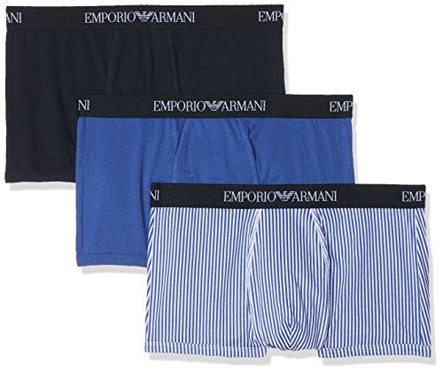 Emporio Armani Underwear 111625 Braguita, (Ultram St/mar 22033), Large (Pack de 3 para Hombre