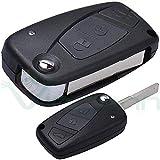Coque rigide Coque clé télécommande 3 boutons pliable Grande Punto FIAT Stilo Panda Ulysse Ducato Doblo Idea