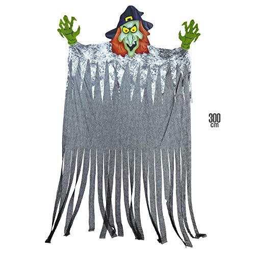 Widmann Famille 01397 Witch-Giant pour Les décorations/Parties, Hauteur?: 3 m