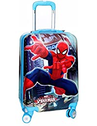 """Tramp & Badger 100% polycarbonate, 360° Rotating Wheels, Spiderman Printed Pattern Non-Breakable & Extra Light Weight Kids Trolley Bag- Multi-Colour (Size-17"""" Cabin Size)-( with 1 year warranty )"""