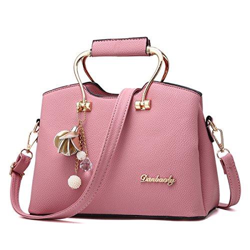 Damen Handtaschen Art Und Weise Wild Große Tasche Einfach Schulter Kurierbeutel Elegant Temperament Süß Parteibeutel Pink