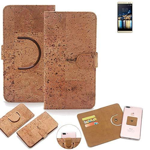 K-S-Trade Schutz Hülle für Switel Champ S5003D Handyhülle Kork Handy Tasche Korkhülle Schutzhülle Handytasche Wallet Case Walletcase Flip Cover Smartphone Handyhülle