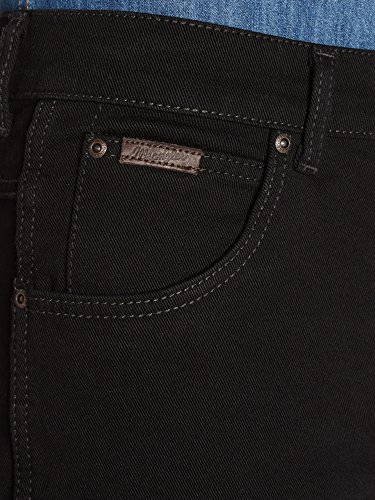 Wrangler - Texas Stretch - Jeans - Droit - Homme Noir (Black Overdye)