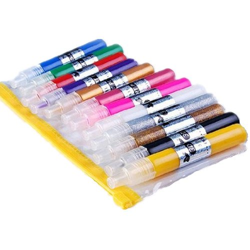 12 Color 3d peinture nail art polonais bricolage gel UV de stylo en acrylique Conseils Set de salon de beauté