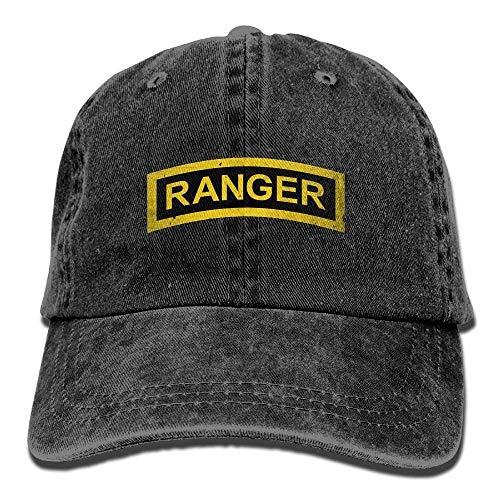 Not afraid US Army Retro Ranger Tab Unisex Adjustable Cotton Denim Hat  Washed Retro Gym Hat 902e1aaff1b