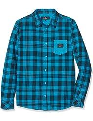 Rip Curl New Lifestyle Ls Shirt - Camisa para niño, color azul, talla 14