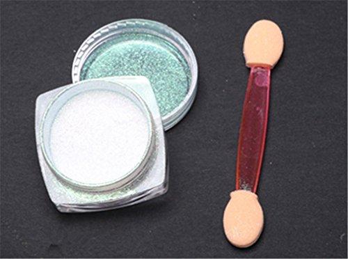 Pure Vie® 1 Pcs 1g Nail Art Specchio di Scintillio Brillante Nail Chrome Polvere del (Chrome Quattro Punti)