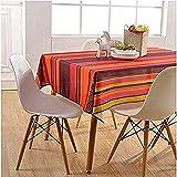 Asvert Manteles de Mesa Rectangular de Algodón y Lino de Estilo Moderno para Mesa Rectangular de Comedor Cocina Jardín y Bar (Colorear,130x180cm)