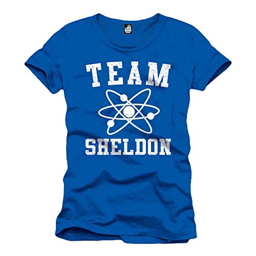 The Big Bang Theory Team Sheldon T-Shirt Lizenzware blau L