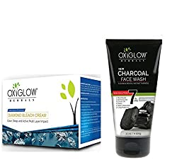 OXYGLOW DIAMOND BLEACH AND CHARCOAL FACE WASH