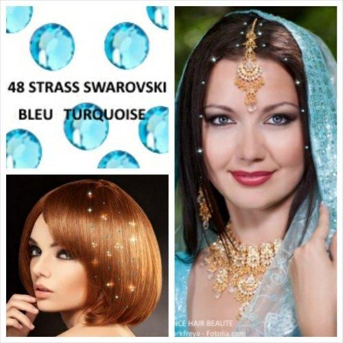 promo-kit-hochzeit-48-strass-blau-turkis-schmuck-haar-swarovski-4-mm-diametre-48-strass-4-blatter-ta