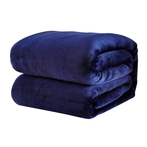 Swiftswan Flannel Luxury Blanket, Leichte Gemütliche Plüsch Mikrofaser Solide Decke Plüsch Decke für Sofa Couch (Königin Mikrofaser)