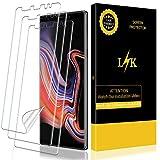 L K [3 Pièces Protection Écran pour Samsung Galaxy Note 9, HD Clair Doux Film Pas Verre [sans Bulles] [Couverture complète] [Compatible avec Coque] [Pas de Bords levés] FilmProtection