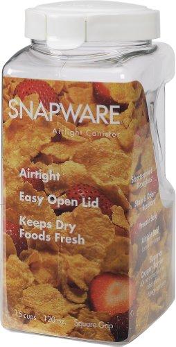 Snapware 1098534 Airtight quadratischer Kunststoffbehälter, 3,8 L -