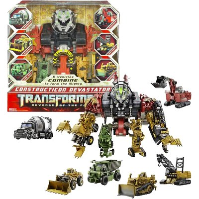 Hasbro 83908148 - Transformers Movie 2 - Revenge of the Fallen - CONSTRUCTICON DEVASTATOR -  6-in-1 Voyager Class Combiner-Set, ca.34cm/14 Inch