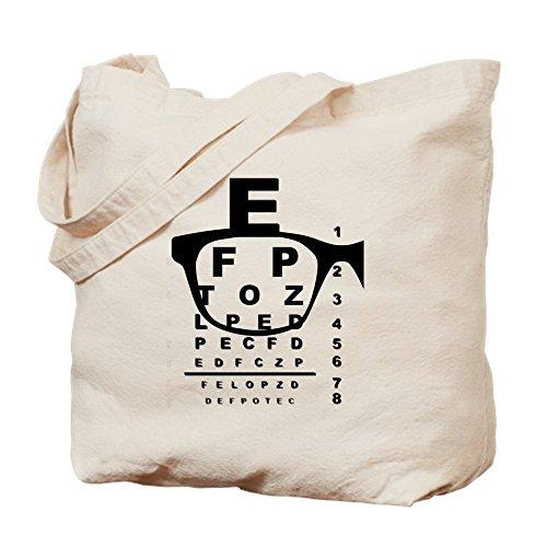 CafePress Blurr Eye Test Chart Tragetasche, canvas, khaki, M
