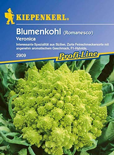 SONIRY Samen-Paket: Kiepenkerl - Veronica Romanesco Blumenkohl 2909-F1 Hybride