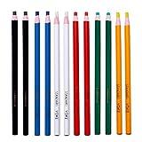 Eliky 12 stuks Peel Off marker vetstift kleurstift stiftpapierrol waxstift voor metaal, glas, stof aan