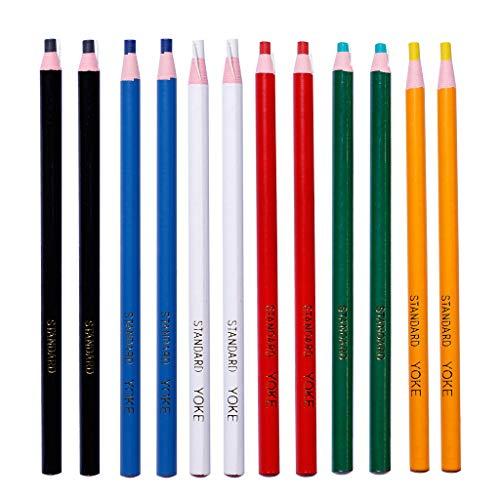Kanitry 12 Stück Peel Off Marker Fett Bleistift Buntstift Papier Wachsstift für Metall Glas Stoff Kunst Supplies (Kunst Stück Kostüm)