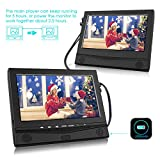 from CUtrip 10.1 Portable Dvd Players CUtrip Dual In Car DVD Player Twin Screen Headrest Monitor with HD Screen, 5 Hours Rechargeable Battery and Remote Control Model CU-10103B