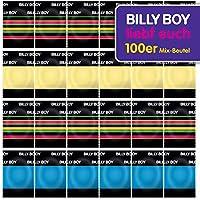 Billy Boy Kondome 100er Beutel Mix-Sortiment aus bunten, perlgenoppten, aromatisierten und extra feuchten Kondomen preisvergleich bei billige-tabletten.eu