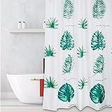TS-nslixuan Duschvorhang Wasserdicht Anti-Mildew Badezimmer Duschvorhang Schöne Lange Nordic Verdickung Vorhang Ohne Stanzen Badewanne Vorhang, 220Cmx200Cm