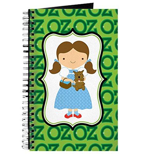 CafePress–Zauberer von Oz Dorothy und Toto–Spiralbindung Journal Notebook, persönliches Tagebuch, Dot Grid