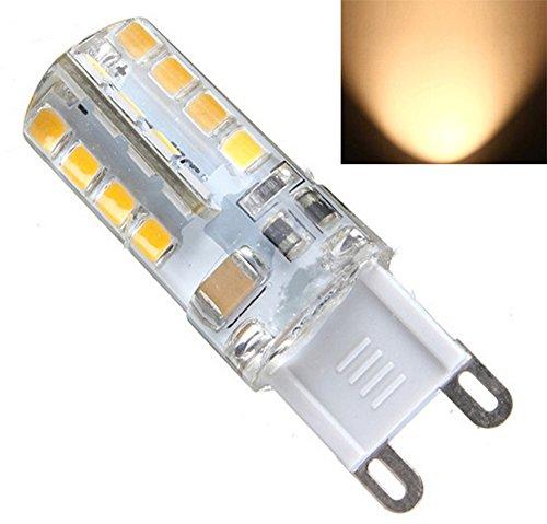 Preisvergleich Produktbild 4X Sunix G9 5W LED Glühbirne Stiftsockel Leuchtmittel Lampe Warmweiß 40 SMD 230V