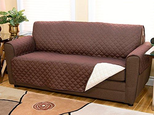 Copridivano reversibile doppio colore in tessuto trapuntato per divani fino a 140cm protegge da animali domestici, polvere e macchie