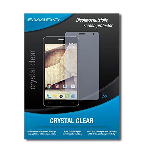SWIDO Bildschirmschutzfolie für Allview P6 Qmax [3 Stück] Kristall-Klar, Extrem Kratzfest, Schutz vor Öl, Staub & Kratzer/Glasfolie, Bildschirmschutz, Schutzfolie, Panzerfolie