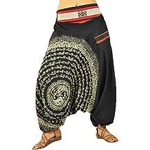 virblatt Pantalones Bombacho Mujer Yoga cagados como pantalón Chandal árabe  - Nirvana d7fa282888a0