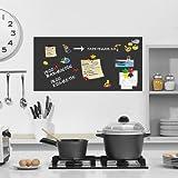 selbstklebende magnetische Tafelfolie - schwarz - 100x50cm l Magnet Tafel l Kreidetafel