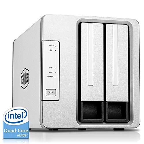 TerraMaster F2-421 NAS 2 Bay Cloud Speicher Intel Quad-Core 1,5GHz Plex Media Server Netzwerkspeicher RAID (Ohne Festplatte)