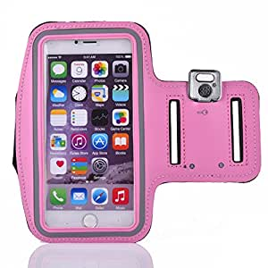 IPhone5 Armband, Running and Exercise Gym Sportband,Sports Armband Wrist Case,Universal waterproof running with touch For iphone,Samsung,Various series Mobie Phone Under 5.2 Inches ,Size L (Pink)