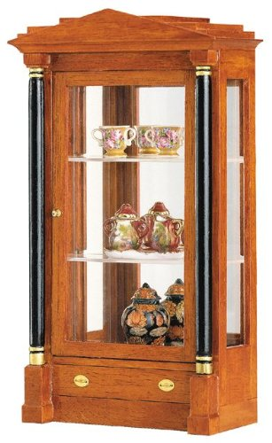 MiniMundus Biedermeier Glasvitrine für das Puppenhaus, Bausatz