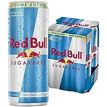 Red Bull Sugarfree Energy Drink, 4er Pack, Einweg (4 x 250ml Dosen)