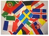 Länderkette Fahnenkette EM 2016 Frankreich ca. 9,80 m