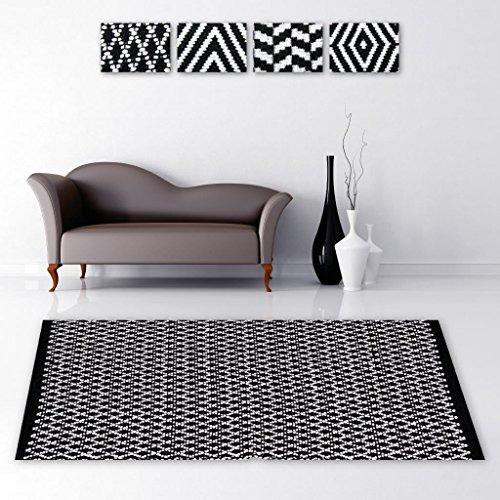e Unterlage Vorleger Fußabtreter, breite Auswahl an modernen Fleckerl- und Baumwollteppiche (120x180 cm / Hash) (Teppich Zu Teppich Schützen)