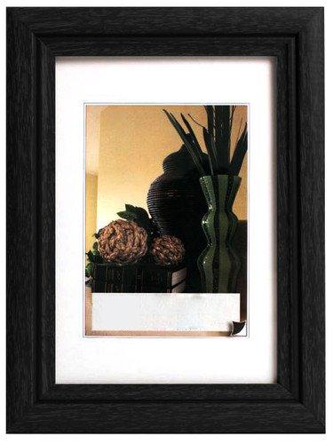 Holz Schwarzer Bilderrahmen 8x10 (Bilderrahmen Fotogalerie #52 , Holz Rahmen , mit Glasscheibe , Artos , 8 Farben in 5 Größen (Schwarz , 10x15))