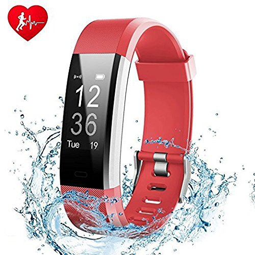 Fitness Tracker, Showyoo Heart Rate Monitor GPS Running Tracker Smart Bracelet Activity Tracker Bluetooth Pedometer Sleep Monitor Smartwatch for iPhone 8 7 7 Plus 6 Samsung S8 Android iOS